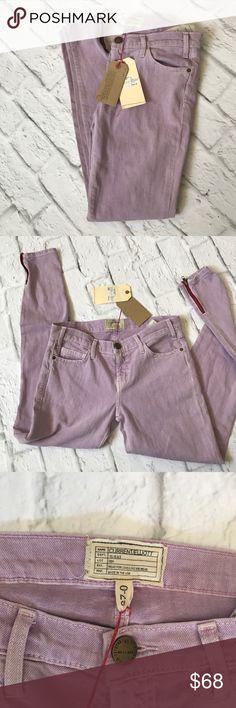 🌷Spring Sale🌷New Current/Elliott Skinny Jeans NWT Current/Elliott The Ankle Skinny with Short Zip jeans in lavender. Essential for Spring! Retail for $198. Current/Elliott Jeans Skinny