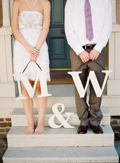 """This would be perfect with """"J""""s in an anniversary pic one day. Would just have to switch out the ampersand for a plus sign for it to match or monogram."""