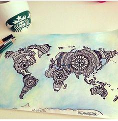 Amazing mandala map of the world!