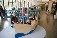 FUN LIBRARY SPACES You go to the library to check out books. But you can spend just as much time checking out the scene. At certain extra-special libraries in Chicago and the suburbs there are educational toys, engaging activities and interactive atmospheres that entice kids to hang out for hours. Whether you need a rainy day getaway or…