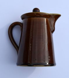 1950s Bourne Denby Cottage Brown Coffee Pot by BiminiCricket