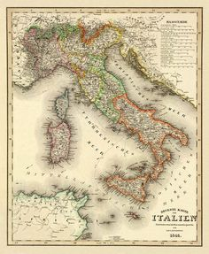 Antique wall map  Antique map print  Vintage map by AncientShades, $30.00