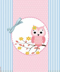 Full Set on screech pink and blue inspireuafiesta Owl Cake Birthday, Owl Birthday Parties, Scrapbook Bebe, Owl Wallpaper, Baby Girl Quotes, Theme Pictures, Floral Logo, Bird Crafts, Pink Owl
