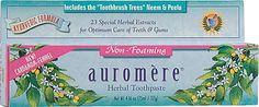 Auromere Herbal Toothpaste Cardamom-Fennel, I love Fennel toothpaste!
