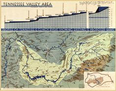 TVA map of proposed dams