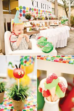 Very Hungry Caterpillar first birthday party