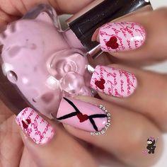 VALENTINE by thecraftyninja #nail #nails #nailart