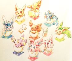 Pokemon Tattoo, Pokemon Fan Art, All Pokemon, Pokemon Mignon, Pokemon Original, Chibi, Pokemon Eevee Evolutions, Cute Pokemon Wallpaper, Kawaii Doodles