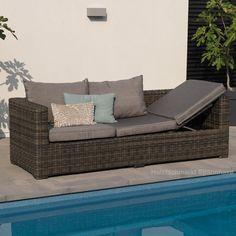 Lounge sofa garten grau  XINRO 19tlg XXXL Polyrattan Gartenmöbel Lounge Sofa günstig ...