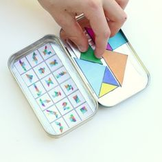 5 Fun DiY Travel Game Ideas for Kids Ensure your next road trip is easy and fun! Here are 5 DIY travel games will keep the kids entertained without taking up too much space. Car Games For Kids, Diy For Kids, Crafts For Kids, Kids Cars, Cool Diy, Travel Activities, Activities For Kids, Diy Pour Enfants, Tangram Puzzles