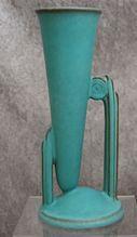 Roseville Pottery Moderne Bud Vase #791-8, Turquoise, Ca. 1936