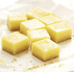 Lemon Bars: These bars start off with a rich, buttery shortbread base. The shortbread is topped with thick, smooth, custardy lemon curd—technically not classic for a lemon bar, but perhaps even better. Via FineCooking