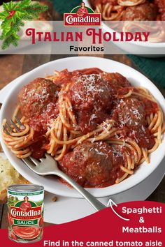 Create memorable family moments with our Spaghetti & Meatballs recipe. This authentic, hearty dish boasts rich, Italian flavor featuring both Contadina® Tomato Paste and Sauce. While the sauce simmers on the stove and the tender, beef meatballs bake in th Egg Recipes, Sauce Recipes, Pork Recipes, Crockpot Recipes, Cooking Recipes, Meatball Recipes, Italian Pasta Recipes, Spaghetti Recipes, Al Dente