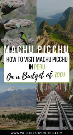 Travel to Peru | So, you've just arrived in Cusco, Peru, and are all fired up to visit Machu Picchu. There are a variety of ways to get there, but not all are going to suit your state of fitness or your pocket. But don't worry, it is possible to visit Machu Picchu on a budget of only $100 USD. #peru #southamerica Backpacking South America, South America Travel, Peru Travel, Asia Travel, Adventure Tours, Adventure Travel, Budget Travel, Travel Ideas, Travel Guide