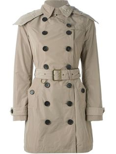 BURBERRY BRIT BURBERRY - 'BALMORAL' BELTED TRENCH COAT . #burberrybrit #cloth #coat