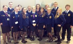 """East Central FFA receives Golden Horizon Award at state convention"" -- East Central FFA members gather for instructions during the state FFA Convention held July 8-12 in Dallas.  Attendees include (from left) Johnna Pieniazek, Tommy Fletcher, Julie Kosub, Amy Moran, Cheyenne Zaiontz, Paige Kosub, Kylie Patterson, Shelbie Knox, Ciarra Gawlik, Jordan Hevner, Stephanie Geistweidt, Matt Alexander, Randee Terrill, and Gerald  Ramzinski."