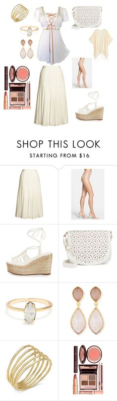 """""""white and gold"""" by jenn5 on Polyvore featuring Canvas by Lands' End, Calvin Klein, Chloé, Under One Sky, Dina Mackney, Lauren Ralph Lauren and Charlotte Tilbury"""