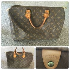 Authentic Louis Vuitton Speedy 35 Authentic Louis Vuitton Speedy 35. I don't trade, so please don't ask. All items are for purchase. Please don't low ball offers I won't respond. I do list items at great prices and unless you plan to bundle I don't really do discounts. Louis Vuitton Bags Satchels