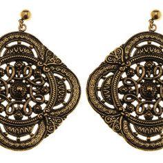 Circle #earrings #handmade by #FloNewAge