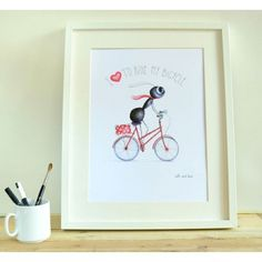 LÁMINA I LOVE TO RIDE My Love, Frame, Home Decor, Point Of Sale, Kids Rooms, Presents, Dots, Homemade Home Decor, A Frame