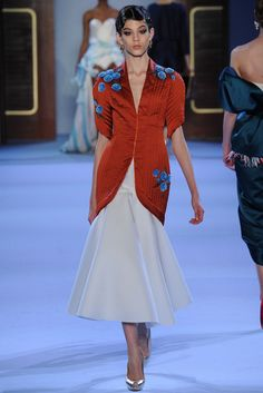 Ulyana Sergeenko   Spring/Summer 2014 Couture Collection via Designer Ulyana Sergeenko   Modeled by Ewa Wladymiruk (CITY))   January 20, 2014; Paris