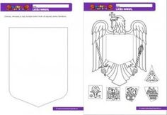 007 - Stema Romaniei colaj 1 Decembrie, Viera, Crafts For Kids, Craft Kids, Romania, Paper Crafts, Day, Moldova, Colouring