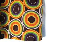 Vintage Psyhchedelic Retro Abstract rainbow colored 1960s Mini Skirt