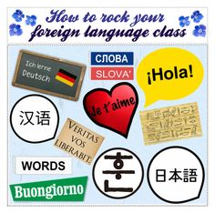 """""""How to rock your foreign language class (tip set)"""" by nika-love ❤ liked on Polyvore featuring art"""