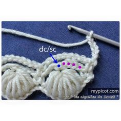 MyPicot is always looking for excellence and intends to be the most authentic, creative, and innovative advanced crochet laboratory in the world. Loom Knitting Patterns, Crochet Stitches Patterns, Stitch Patterns, Picot Crochet, Free Crochet, Crochet Crafts, Crochet Projects, Crochet Circles, Modern Crochet