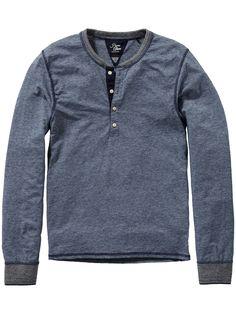 Grandad t-shirt | Jersey l/s tee's & tops | Men's Clothing at Scotch & Soda $95