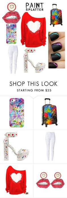 """Untitled #100"" by leah3000 ❤ liked on Polyvore featuring Casetify, Traveler's Choice, Kat Maconie, Gucci and paintsplatter"