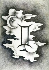 The zodiac signs Gemini.Hand drawn with ink brush. The zodiac signs Gemini.Hand drawn with ink brush. Gemini Zodiac Tattoos, Gemini Tattoo Designs, Zodiac Signs Gemini, Zodiac Art, Gemini Star, Taurus And Gemini, Pisces, Gemini Wallpaper, Illustration