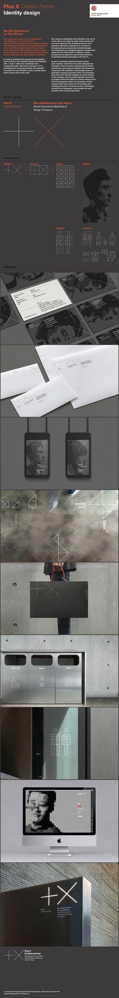 Plus X Creative Partner Identity Design on Behance