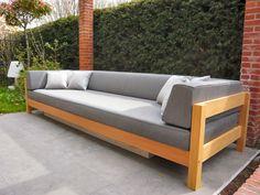 Loungebank Tenso – hardhouten loungebank op maat