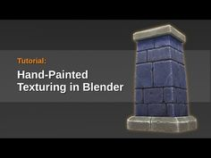 Tutorial - Hand Painted Textures in Blender - YouTube ~ garvie says this is a really long, detailed, USEFUL look at actually painting textures IN blender