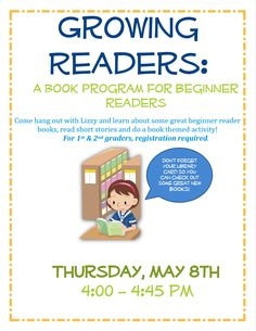 Especially for growing readers at the Westwood Public Library