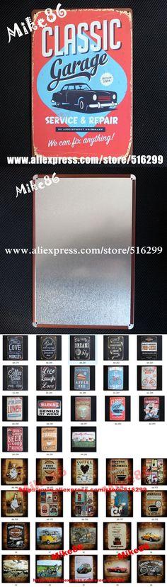 [ Mike86 ] Classic Garage Car  Metal Poster ART Metal Craft Retro Home Bar Plaque Gift Decor AA-292 Mix order 20*30 CM $7.95