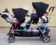 Joovy Big Caboose Stand-On Tandem Triple Stroller Black (Discontinued by Manufacturer) Toddler Stroller, Baby Jogger Stroller, Best Baby Strollers, Double Strollers, Twin Strollers, Infant Toddler, Double Stroller Reviews, Best Double Stroller, Tandem
