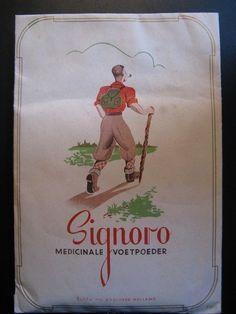 Signoro medicated foot powder Echfa NV Enschede - Holland...c. 1930/40´s #Signorofootpowder