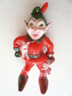 Vintage Scary Christmas Elf circa 1950 by papertales on Etsy, $9.35