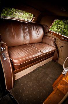 www.tripler.com.au Rolls Royce Silver Wraith interior. Spacious leather seats. Perfect for stylish comfort on your special day. #weddingcar #rollsroyce #weddings