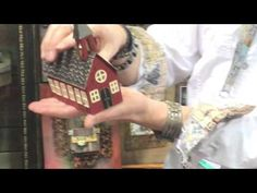 Making DIY Fall Holiday Home Décor Projects with Sizzix Tim Holtz Village Dwelling Dies - YouTube
