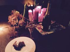 Dutch New Year's eve - champaign, traditional local pastry rolls, apple beignets and lots of firework.