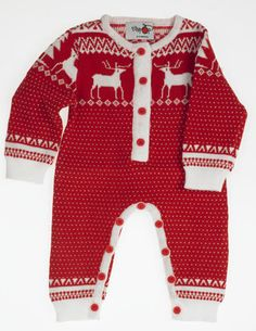 Baby Kids Knitted Christmas Fairisle Pyjamas Onesie Limited Edition!