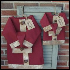 Santa Suit  country primitive Christmas by RaggedyRee