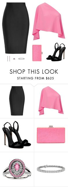 Sin título #4859 by mdmsb on Polyvore featuring moda, Roland Mouret, Giuseppe Zanotti, Edie Parker, Gucci and Blue Nile