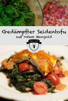 Veggie Love: Heute kochen wir vegetarisch! Auf den Teller kommt gedämpfter Seidentofu auf rotem Mangold.