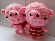 Amigurumi Piggies crochet pattern PDF Digital par anapaulaoli, $3.00