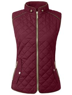 NE PEOPLE Womens Lightweight Quilted Zip Vest: High quality quilted jacket/vest offered in various styles Size Chart/p/b liSmall -Shoulder: Casual Fall Outfits, Casual Winter, Winter Style, Chaleco Casual, Equestrian Style, Equestrian Outfits, Quilted Jacket, Outerwear Women, Vestidos