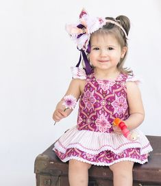 Baby's romper pattern TINKERBELLE ROMPER 'Party Girl' version, baby girl's pdf romper pattern, baby's dress pattern, to fit 3 mths to 3 yrs